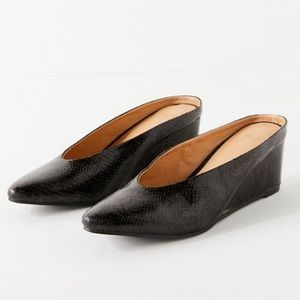 Urban Outfitters Black Wedge Mules size 8